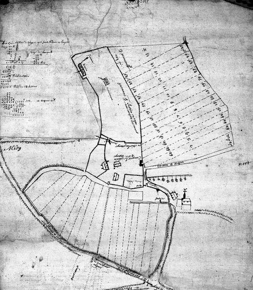 Plan des bâtiments & terre du 18e siècle